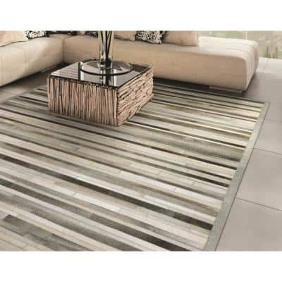 Chalet Plank Grey-Ivory 6 ft. x 8 ft. Area Rug