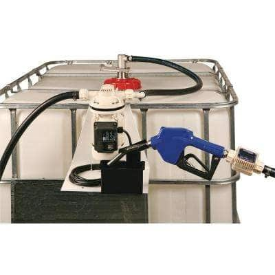 8 GPM Automatic DEF IBC Transfer Tote System with 12 ft. Hose and Nozzle