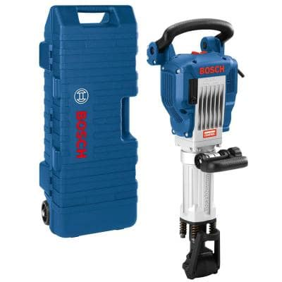 15 Amp 1-1/8 in. Corded Concrete Electric Hex Breaker Hammer Kit with Hard Carrying Case with Wheels