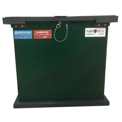 TuffBoxx BRUIN Series 100 Gal. Green Galvanized Metal Animal Resistant Trash Can/Storage Container