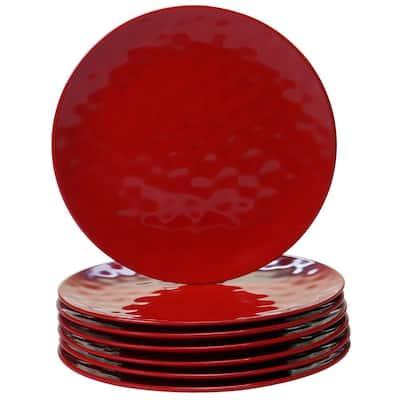 6-Piece Red Dinner Plate Set