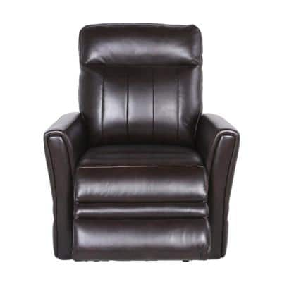 Coachella 1-Seat Brown Leather Power Recliner Chair