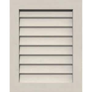 23 in. x 33 in. Rectangular Primed Smooth Western Red Cedar Wood Built-in Screen Gable Louver Vent