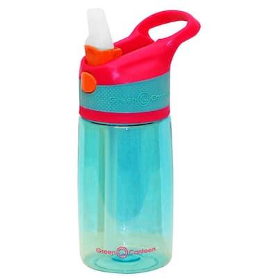 12 oz. Pink and Aqua Plastic Tritan Hydration Bottle (6-Pack)