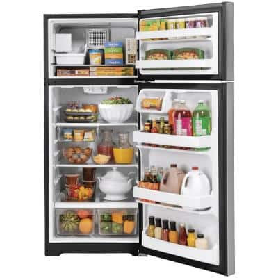 17.5 cu. ft. Top Freezer Refrigerator in Stainless Steel, ENERGY STAR
