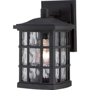 Stonington 1-Light Black Outdoor Wall Lantern Sconce