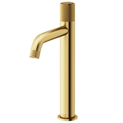 Apollo Single-Handle Vessel Sink Faucet in Matte Brushed Gold