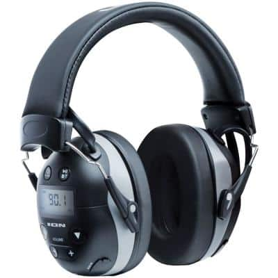 Tough Sounds 2 All-Weather Hearing Protection Headphones with AM/FM Radio, Bluetooth and Microphone