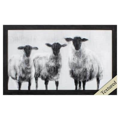 Victoria Distressed Black Gallery Animal Frame Wall Art 18 in. x 30 in.
