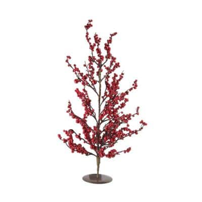 23.5 in. Festive Red Berries Artificial Decorative Christmas Tree