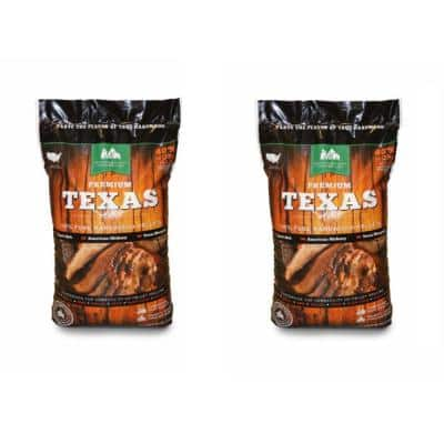 Premium Texas Pure Hardwood Grilling Cooking Pellets (2-Pack)