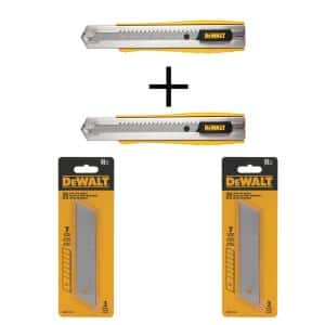 25 mm Metal Body Snap-Off Knife (2-Pieces) with 25 mm Snap Blades (6-Pieces)