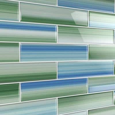 Tidal 3 in. x 12 in. Glass Tile for Kitchen Backsplash and Showers (10 sq. ft./per Box)