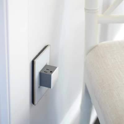 adorne 15 Amp 125-Volt Tamper Resistant 1-Gang Pop-Out Outlet, White