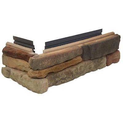 Easy Stack 5 in. x 12 in. To 19 in. Copper Hill No Mortar Concrete Ledge Stone Corner 1.6 lin. ft. per box