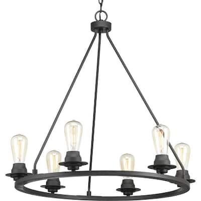 Debut Collection 6-Light Graphite Farmhouse Chandelier Light