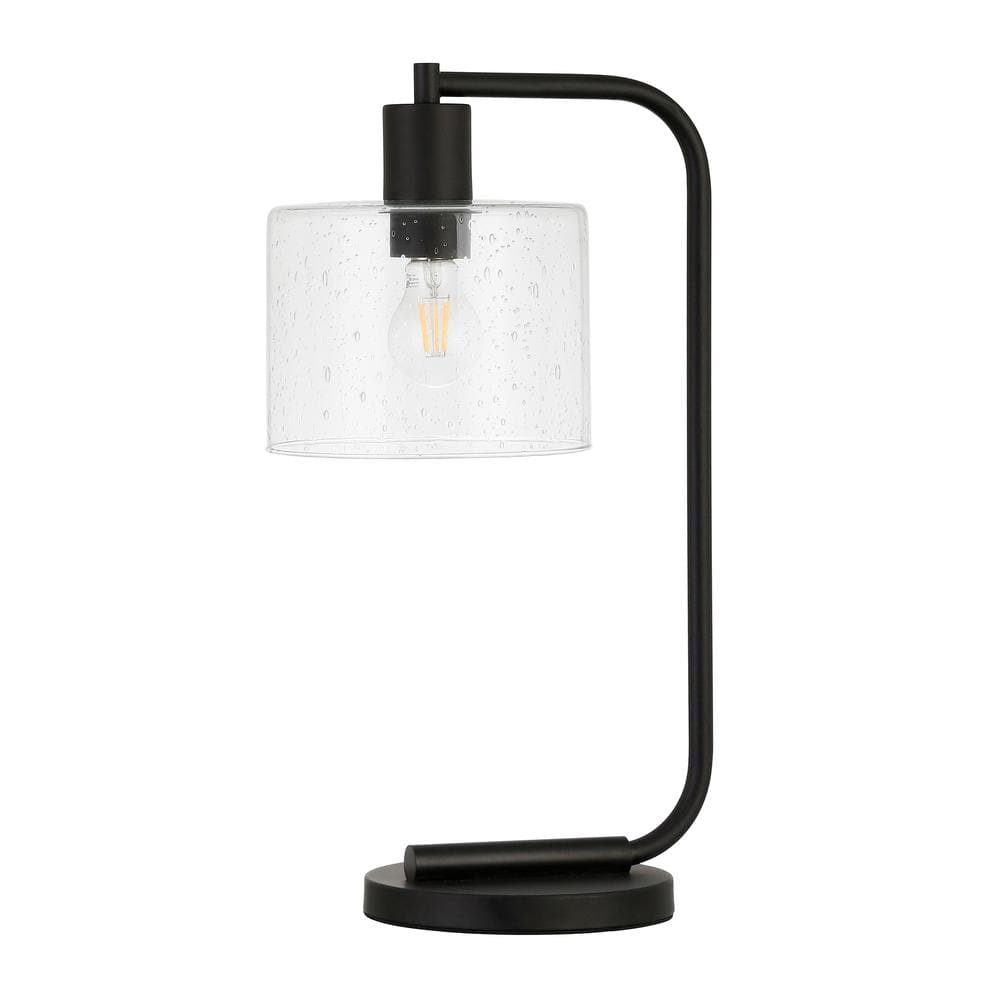 Meyer Cross Cadmus 20 1 2 In Blackened Bronze Table Lamp With Seeded Glass Shade Tl0465 The Home Depot