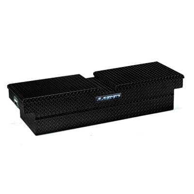 60 in. Gloss Black Aluminum Full Size Crossbed Truck Tool Box with mounting hardware and keys included