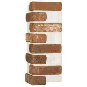 Brickwebb Castle Gate Thin Brick Sheets - Corners (Box of 3 Sheets) 21 in. x 15 in. (5.3 lin. ft.)
