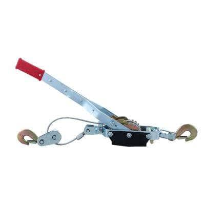 4-Ton Come-Along Cable Puller Hand Winch with Single or Double Hook Assembly