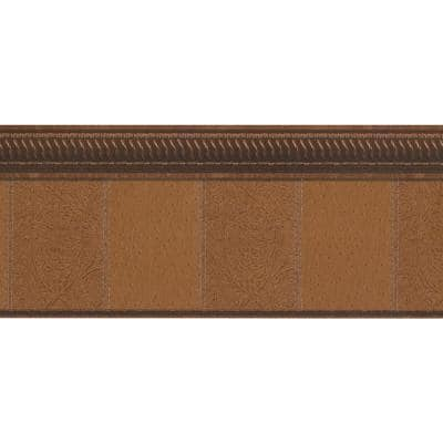 Falkirk Dandy Brown Faux Crown Molding Victorian Peel and Stick Wallpaper Border