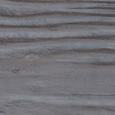 SAMPLE - 1 in. x 6 in. x 6 in. Burnished Cedar Polyurethane Sandblasted Faux Wood Moulding