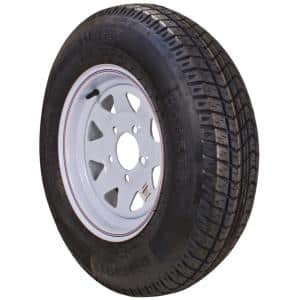 ST225/75R-15 KR03 Radial 2150 lb. Load Capacity White with Stripe 15 in. Bias Tire and Wheel Assembly