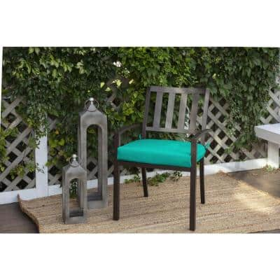 21 in. x 21 in. CushionGuard Seaglass Contoured Outdoor Seat Cushion