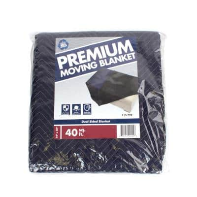 80 in. L x 72 in. W Premium Moving Blanket (2-Pack)