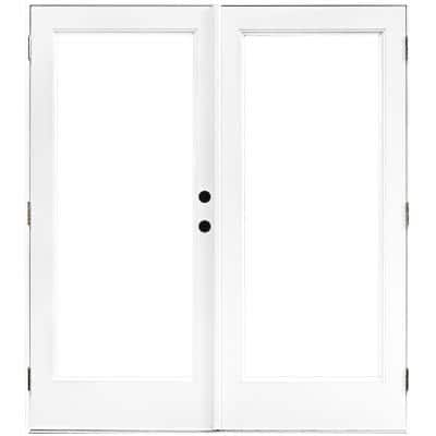 60 in. x 80 in. Fiberglass Smooth White Left-Hand Outswing Hinged Patio Door