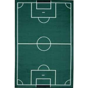 Fun Time Soccerfield Multi Colored 3 ft. x 5 ft. Area Rug