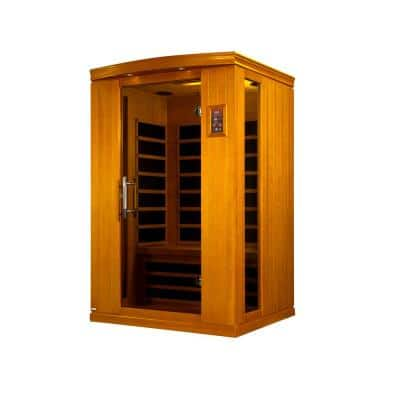 Tru Heat 2-Person Far Infrared Sauna with 4-Carbon Tech Heaters, MP3, Light and Digital Controls