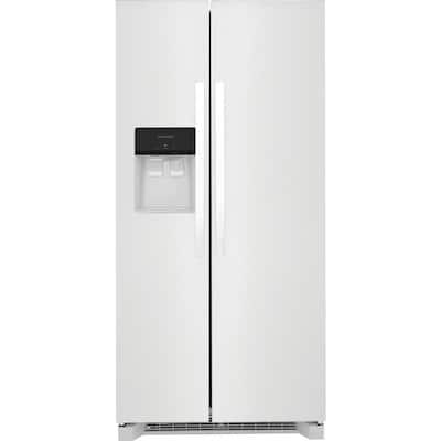 33 in. 22.3 cu. ft. Standard Depth Side by Side Refrigerator in White