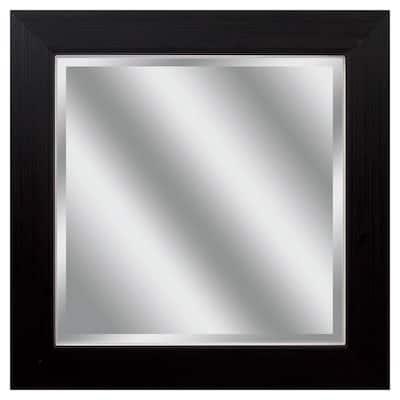 Victoria 14 in. x 14 in. Classic Square Framed Black Vanity Mirror