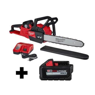 M18 FUEL 16 in. 18-Volt Lithium-Ion Battery Brushless Cordless Chainsaw Kit with M18 High Output 6.0 Ah Battery