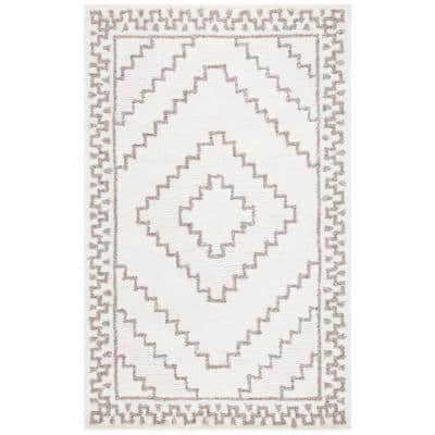 Casablanca Taupe/Ivory 8 ft. x 10 ft. Moroccan Area Rug