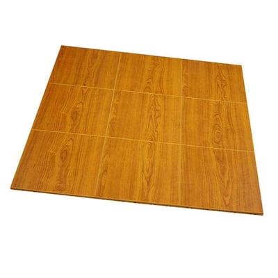 Max Tile 12 in. W x 12 in. L Walnut Waterproof Interlocking Modular Basement Vinyl Floor Tiles (20 sq. ft. 20-Pack)