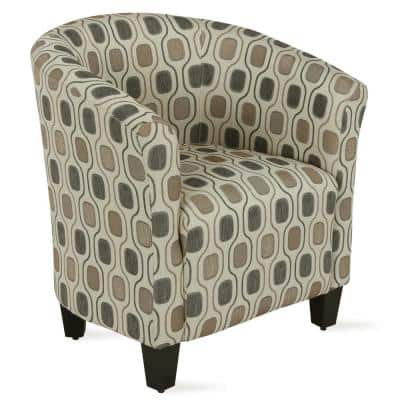 Markson Abstract Geometric Shape Pattern Upholstered Accent Chair