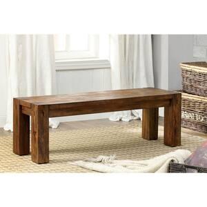 Frontier Dark Oak Transitional Style Bench