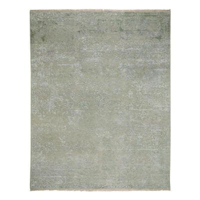 Jain Celery 8 ft. x 10 ft. Hand Knotted Area Rug