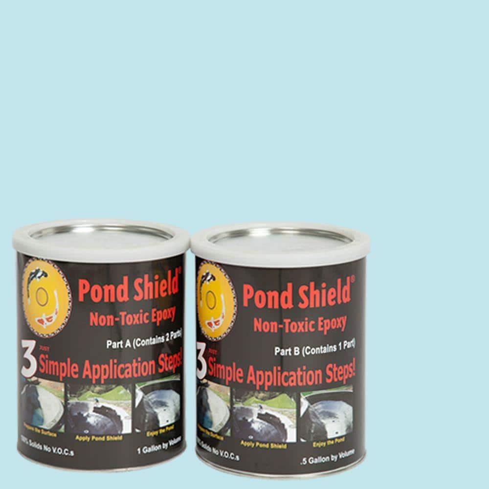 Pond Armor Pond Shield 1 5 Gal Sky Blue Non Toxic Epoxy Sku Skyblue Ga The Home Depot