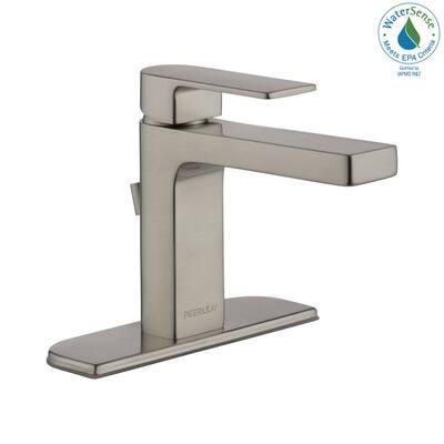 Xander Single Hole Single-Handle Bathroom Faucet in Brushed Nickel