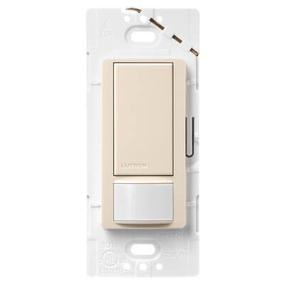 Maestro 5 Amp Motion Sensor Switch, Single-Pole or Multi-Location, Light Almond