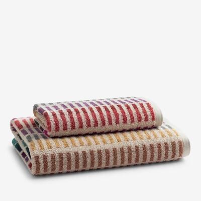 Panorama Stripe Cotton Fingertip Towel (Set of 2)