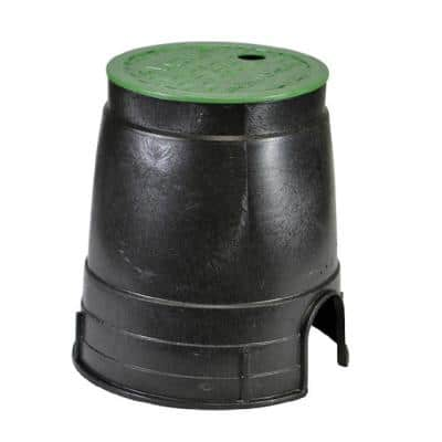 6 in. Plastic Round Box with Overlapping ICV Cover