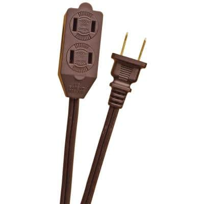 6 ft. 16/2 Cube Tap Extension Cord, Brown