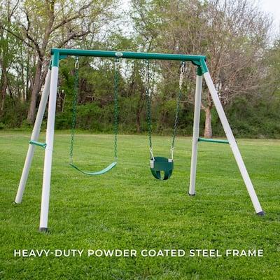 Mini Brutus Heavy-Duty Metal A-Frame Swing Set