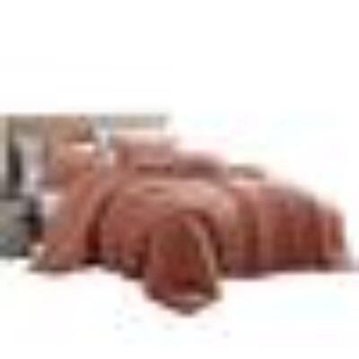 Helsinki 4-Piece Rose Orange Textured Microfiber Queen Comforter Set