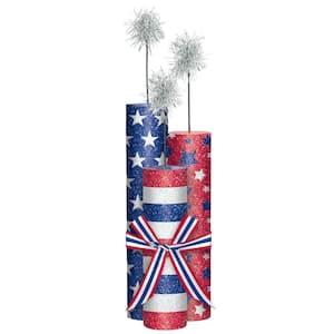 13.5 in. x 4 in. Firework Glitter Centerpiece (2-Pack)
