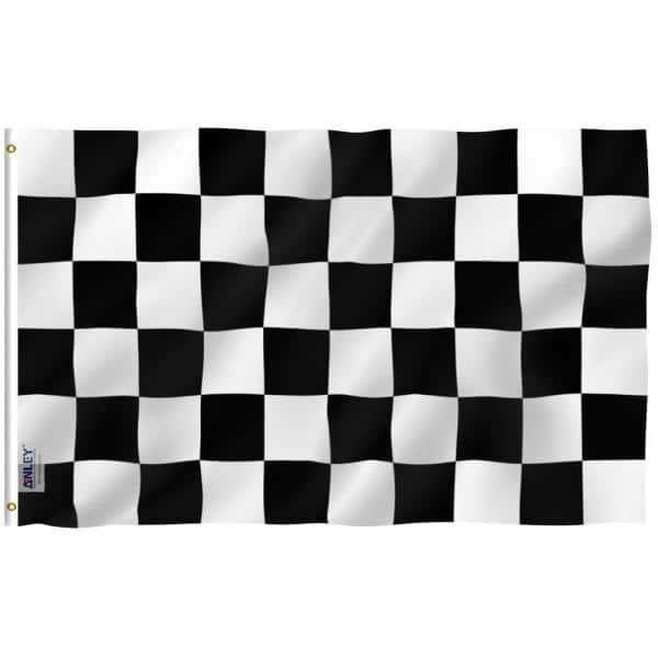 Anley Fly Breeze 3 Ft X 5 Ft Polyester Checkered Flag 2 Sided Flags Banner With Brass Grommets And Canvas Header A Flag Sp Checkered The Home Depot